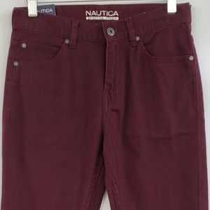 NAUTICA Big Boys Merlot Brushed Twill Pants